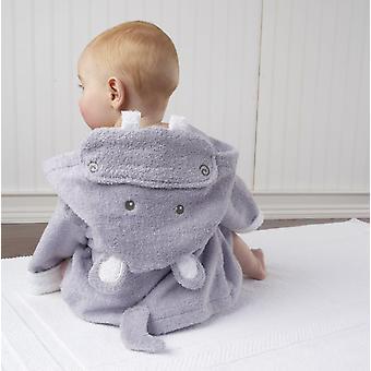 "Size M Shark Bunny Hippo-""s Bathrobe / Infant Hooded Beach Towel, Kids Ponchos"