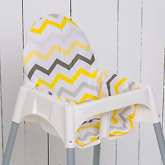 Puckdaddy Seat Cushion Caja pre IKEA High Chair Antilop Chevron Yellow Grey