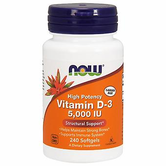 Now Foods Vitamine D3 5000 UI, 5000IU 240 gélules
