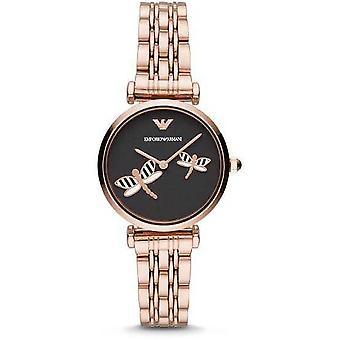Emporio Armani AR11206 Gianni T-bar Analog Black Dial Women's Watch