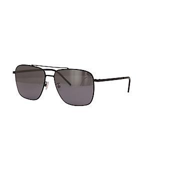 Saint Laurent SL 376 Slim 002 Musta/Harmaa-Hopea Peili Aurinkolasit