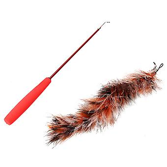 Cat Toy Luxury Tease Stick Colorful Feather