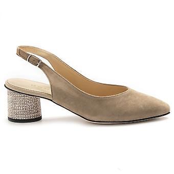 Tortora Suede Brunate Women's Shoe with Decorated Heel