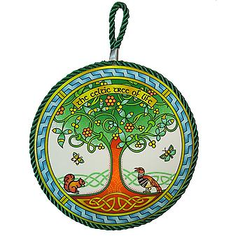 Islandcraft Tree Of Life Ring Rope Plaque/pot Stand