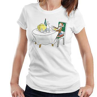 Curioso George Mangiare un pasto di fantasia donne's T-Shirt
