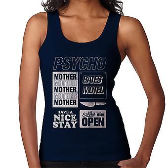 Psycho Classic Quotes Montage Women's Vest