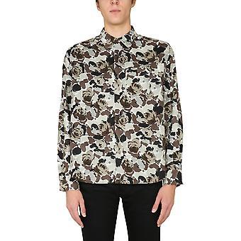 Kenzo Fa65ch4019b149 Men''s Camuflagem Camisa de Algodão
