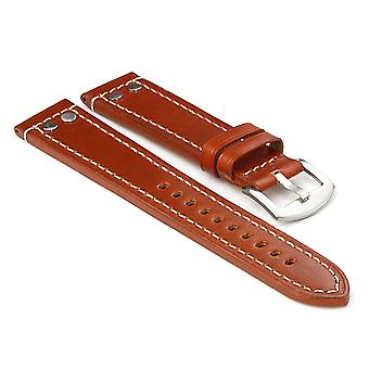 Strapsco leather strap with rivets