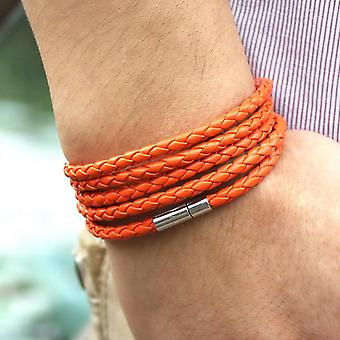 5 Layer Leather Charm Buckle Bracelet