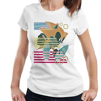 Sonic The Hedgehog Landing Stripes Kvinnor & apos; s T-shirt