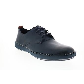 Clarks Komuter Walk Herren Blau Oxfords & Schnürsenkel Plain Toe Schuhe