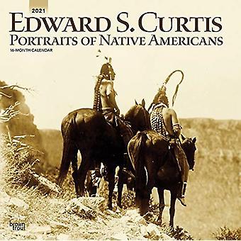 كورتيس إدوارد صور الأميركيين الأصليين 2021 التقويم مربع من براونتروت