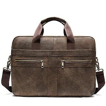 Men's Genuine Leather Laptop Bag