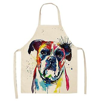 Bulldog Printed Kitchen Aprons - Unisex Dinner, Party, Cooking Bib