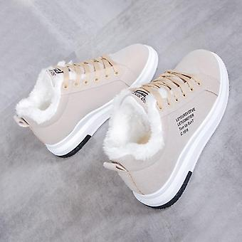 Winter Warm Fur Plush Casual Lace Up Fashion Sneakers