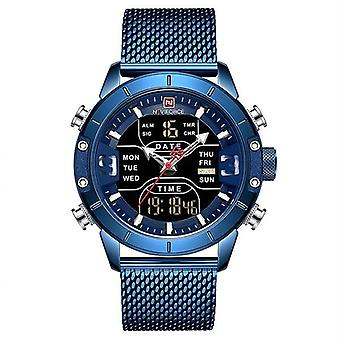 Sport Analog Digital Watches, Men Stainless Steel Watch