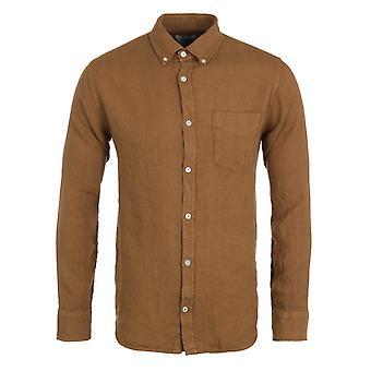 NN07 Levon Linen Shirt - Caramel