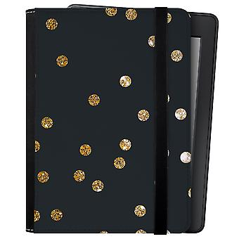 Caseable kindle and kindle paperwhite case, gold dots