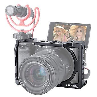 Gabbia per fotocamera Uurig c-a6400 per sony a6400 a6300 a6100 vlogging staffa portatile staffa fredda s