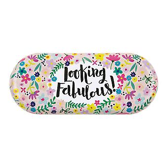 Childrens glasses case with colourful floral design