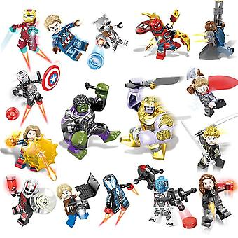 Marvel Avengers Minifigure Building Blocks Iron Man Spiderman Thanos Hulk Thor