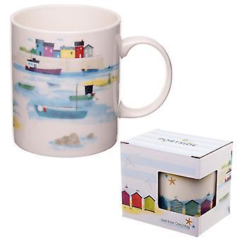 Caneca de porcelana - design à beira-mar e à beira-mar