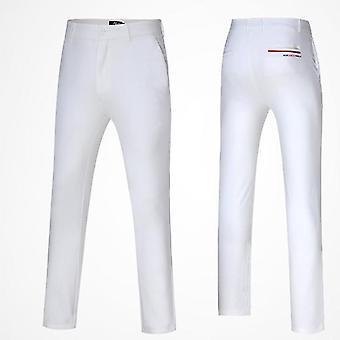 Мужские апос;с Зимние плюшевые брюки для гольфа, высокоупругие длинные брюки