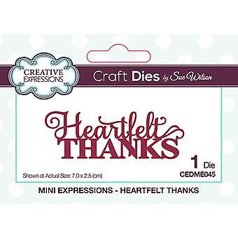 Creative Expressions Mini Expressions -kokoelman leikkaus kuolee - sydämellinen kiitos