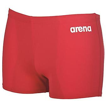 Арена мальчики твердых Junior плавать шорты - красный