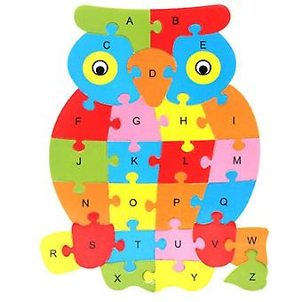 Animal Shape Design, Geometry Wooden Board- English Alphabet Montessori Toy