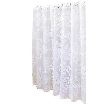 Weiße Blume Dusche Vorhang 180x200cm
