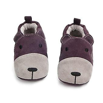 Cartoon Fox Baby Winter Warm Cotton Home Shoes Baby First Walkers