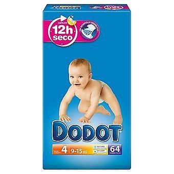 Dodot Bebé Seco Pañales Talla 4 62 uds