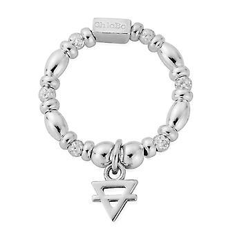 ChloBo SRM23126 Women&s Mini Earth Ring Medium