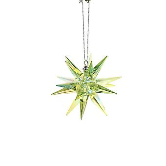 Green Hanging Spike Star Ornament