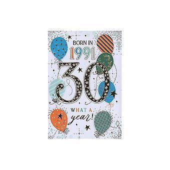 ICG Ltd 2021 Male 30 Year You Were Born Birthday Card
