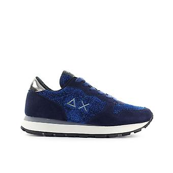 Sun68 Ally Thin Glitter Navy Blue Sneaker