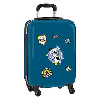 Cabin Trolley National Geographic Explorer Blue Brown 20''