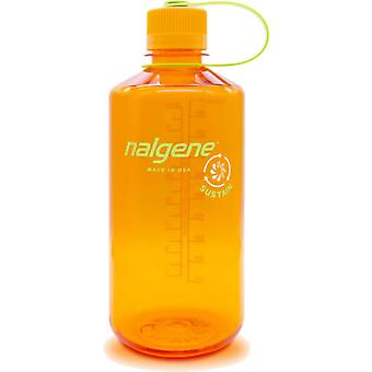 Nalgene Narrow Mouth 1L Tritan Sustain Bottle with Tonal Loop-Top Closure - Clémentine