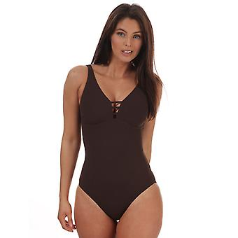 Costume da bagno Speedo Sculpture OpalGleam da donna in marrone