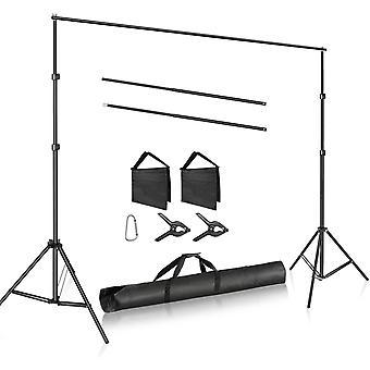 HanFei Foto Studio Verstellbares 3m breiter Querbalken 2m hohes Hintergrundgestell mit 2