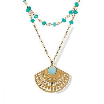 Golden och Amazonite halsband