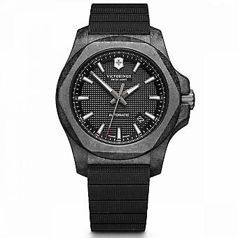 Borracha preta Victorinox I.N.O.X. Relógio Masculino - 45 mm