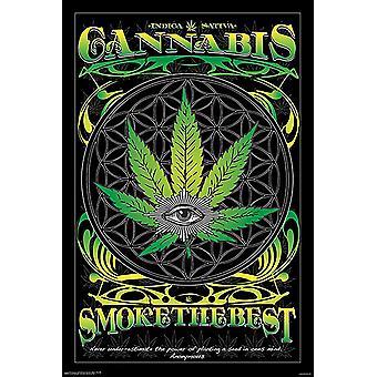 Cannabis plakat røg de bedste 91,5 x 61 cm