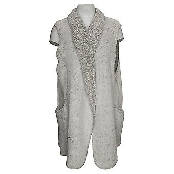 Koolaburra By UGG Women's Plus Frosted Brushed Sherpa Vest White A386504