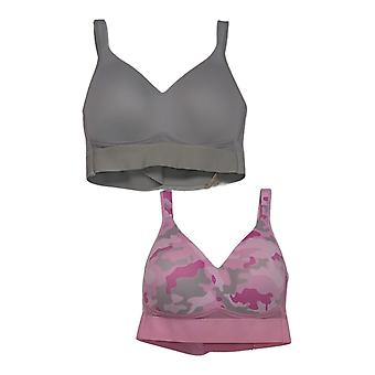 Rhonda Shear 2-Pack Molded Cup Bra With Mesh Back Detail Pink 732406