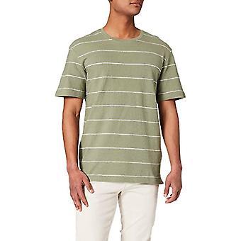 JACK & JONES JORJAMIE Stripe Tee SS Crew Hals T-Shirt, Sea Spray/Stripes: Weiß, XL Herren