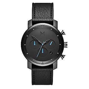 MVMT Men's Quartz Chronograph Watch with Leather Strap D-MC02-GUBL