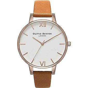 Olivia Burton analoge quartz horloge vrouw met lederen riem OB16BDW19
