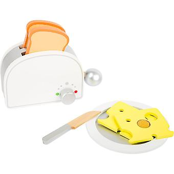 "FengChun 10594 Frühstücksset ""Kinderküche"" aus Holz, inklusive Toaster mit Hebel"